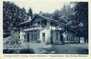 Der Tutzinger Keller um 1920, Vereinslokal des Arbeiter Sportvereins
